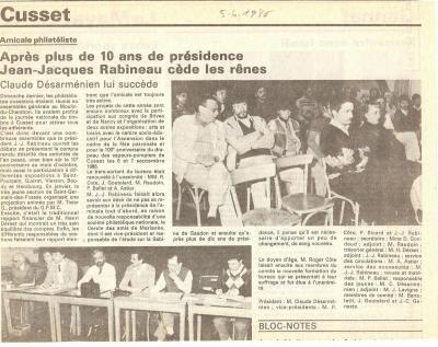 0022 election du nouvveau president avril 1986